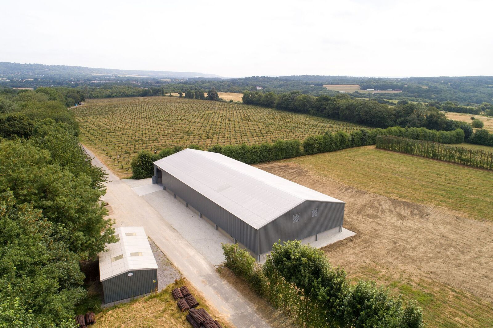 Robert Mitchell Farms - Bin Barn Aerial Photo