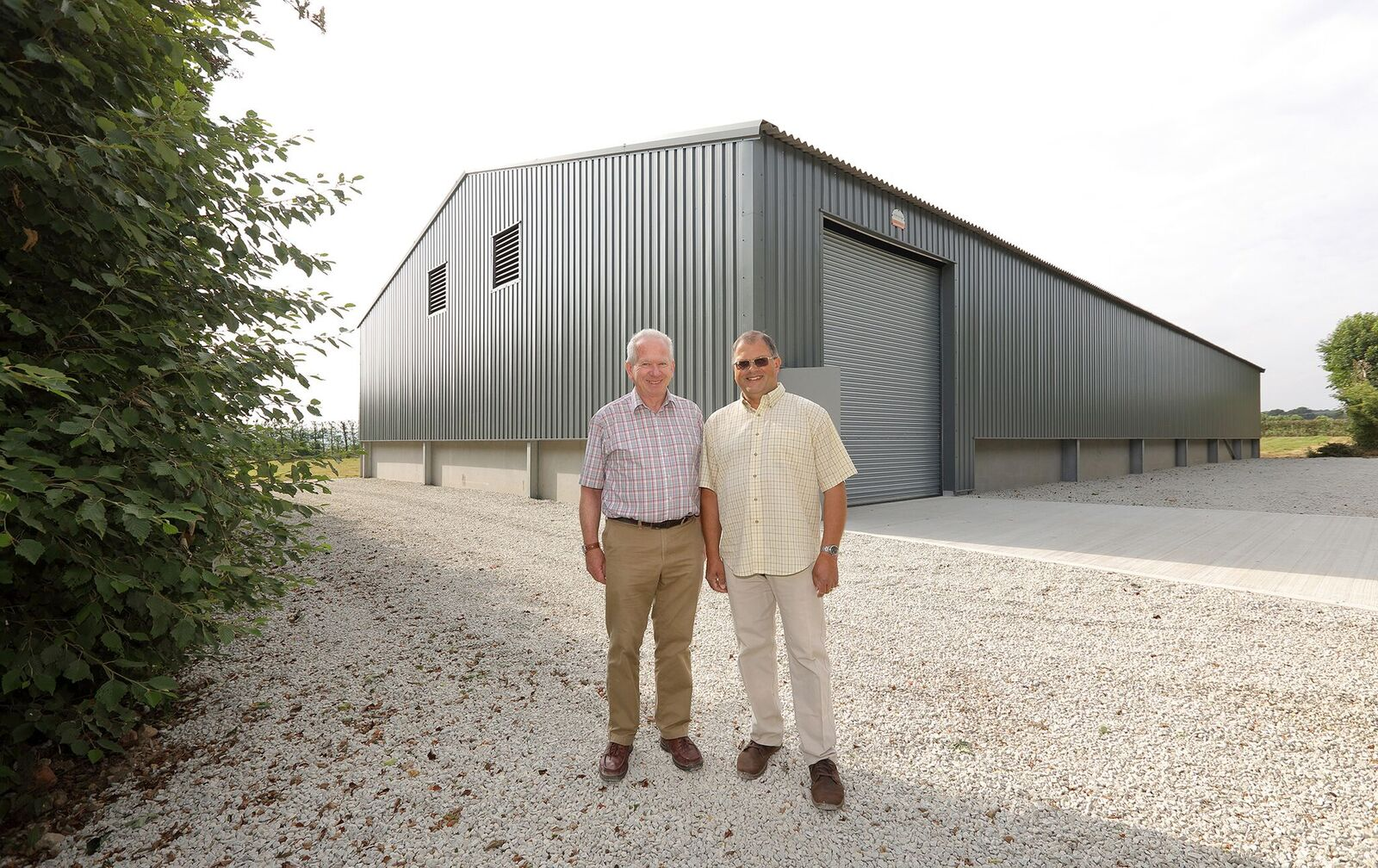 Robert Mitchell Farms - Bin Barn Handover Photo